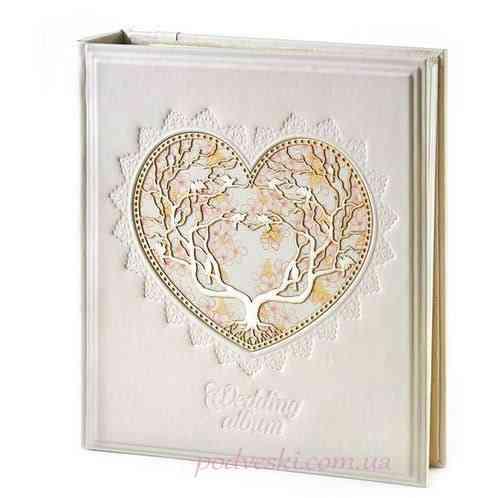 Кожаный беларусский фотоальбом Сердце - подарок на свадьбу Киев