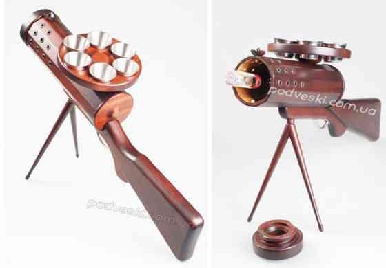 Деревянный минибар Пулемет-деловой подарок для мужчины Киев
